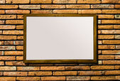 Blank of billboard on brickwall background — Stock Photo