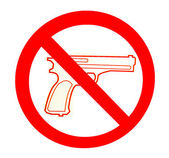 Sign of no gun isolated on white background — Stok fotoğraf