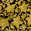 Golden flower of bas-relief pattern thai style — Stock Photo #19154947
