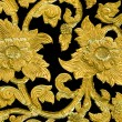 Golden flower of bas-relief pattern thai style — Stock Photo #19155021