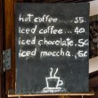 Stock Photo: Blackboard of menu coffee