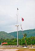 тайский флот морских флаг с морские флаги другой страны — Стоковое фото