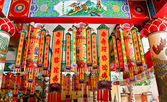 The Color of lucky paper at joss house — Stock Photo
