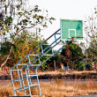 The Basket ball hoop on out door court — Photo