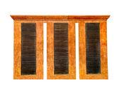 La partition en bois isolée sur fond blanc — Photo