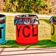 The Colorful Recycle Bins — Stock Photo