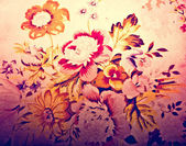 The Colorful of pattern cloth on the pillow — Stock Photo
