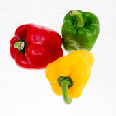 Bell peppers isolated on white background — Foto Stock