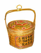 Basket bamboo traditional chinese designed — Stock Photo