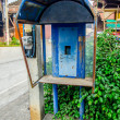 Old booth phone without telephone — Foto de Stock