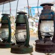 Stock Photo: Old paraffin lamp