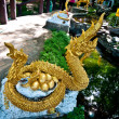 The Naga Sculpture with eggs — Stock Photo