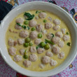 The Green curry with fish ball - Stock Photo