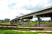 The Bridge over the river near border myanmar with thailand — Stock Photo