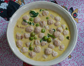 The Green curry with fish ball — Stock Photo