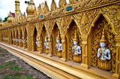 De muur van de tempel — Stockfoto
