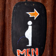 Sign of public restroom for men — Stock Photo
