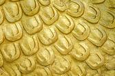 Scale di scultura di texture di drago d'oro — Foto Stock
