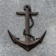 Old rusted anchor — Stock Photo