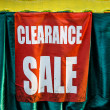 Stock Photo: Market Sign Pointing Way to Clearance sale