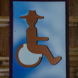 Sign of public restroom for handicapped — Stock Photo #24162063