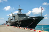 Warship at sattaheep port ,chonburi province,Thailand — Photo
