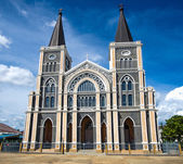 Old church of Roman Catholic Christianity in chantaburi province — Stock Photo