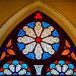 Colorful of stained glass in church — Stock Photo