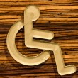 Stock Photo: Sign of public restroom for handicapped