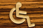 Sign of public restroom for handicapped — Stock Photo