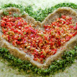 Stock Photo: Heart of food