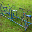 Old bicycle playground — Stock Photo