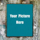 Rope frame on old wall — Stock Photo