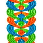 modrá a zelená a oranžová stuha izolovaných na bílém pozadí — Stock fotografie