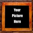 Stock Photo: Wooden frame on wood wall