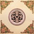 Stock Photo: Wall pattern chinese style in joss house
