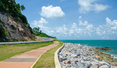 Road along the sea — Stock Photo