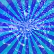 Sunburst Grunge blue with bubble pattern — Stock Photo