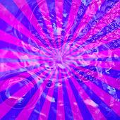 Sunburst Grunge purple with bubble pattern — Stock Photo