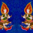 Stock Photo: Painting of deva on wall in the temple.This is traditional and g