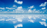 White cloud on sky background — Stock Photo