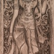Stockfoto: Carving wood of devtraditional thai style
