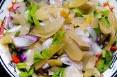 Marynowane musztarda liści z chili sałatka — Zdjęcie stockowe
