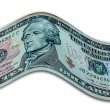 Banknote ten dollar bill — Stock Photo