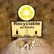 Sign of recyclable with ash tray — Stock Photo #30179855