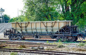 Empty wagon for bulk materials of train — Stock Photo