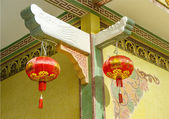 Rouge chinoise lampions dans joss house — Photo