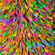 Colorful plastic straw background — Stock Photo