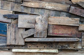 Old piece wooden wall background — Stock Photo