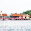Stock Photo: Joss house extend into sea